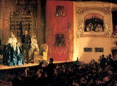 adolph von menzel- el gimnasio de teatro