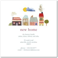 Quaint Neighborhood - Moving Announcements in White | Petite Alma