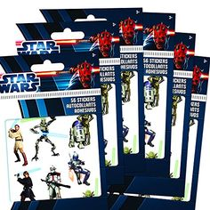 Star Wars Stickers Party Favor Pack (336 Stickers -- Featuring Luke Skywalker, Hans Solo, Darth Vader, Yoda, Princess Leia, Boba Fett, Chewbacca and More!) Star Wars http://www.amazon.com/dp/B0113BP1TY/ref=cm_sw_r_pi_dp_hh4Yvb0J722S6