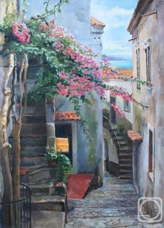 Картинки по запросу картины итальянские дворики