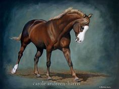 """Canter"" Horse painting by Carole Andreen-Harris"