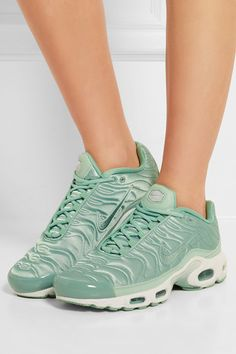 timeless design 43884 08904 Nike - Air Max Plus leather-trimmed quilted satin sneakers
