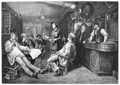 SALVATION ARMY, 1887. 'An English Lady-Preacher of the 'Salvation Army' in a Swiss Tavern.' Line engraving, English, after G. Cederström.