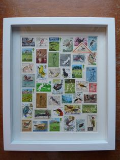 Birds, Wickets and Birdies Stampede - A new Postage Stamp Picture Stamp Storage, Postage Stamp Art, Postcard Art, Vintage Stamps, Displaying Collections, Crafty Projects, Stamp Collecting, Decoration, Framed Art