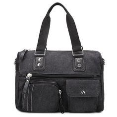 GET $50 NOW | Join RoseGal: Get YOUR $50 NOW!http://www.rosegal.com/shoulder-bags/canvas-double-pocket-zippers-shoulder-711959.html?seid=3185995rg711959