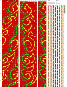 Схемы бисерных жгутов от Ирины Дмитриенко