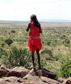 Massai man overlookin Maasai Mara (@Brimstone Dreams)