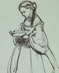 Princess Louise, drawn by her mother Queen Victoria