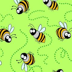 Garden Critters Honey Bees Green