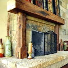 5d7cf9c4d2 Antique Fireplace Mantels hand-crafted from the reclaimed timber of old  barns and wooden structures.