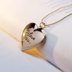 I Love Jewelry, Jewelry Necklaces, Women Jewelry, Craft Jewelry, Glass Jewelry, Heart Locket Necklace, Pendant Necklace, Garnet Necklace, Crystal Necklace