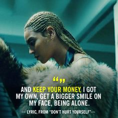 Beyonce Don't hurt yourself