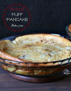 Gluten-free Apple Puff Pancake - also known as a German Pancake or Dutch Baby. Easy and delicious!