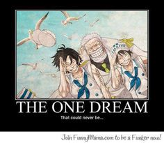One Piece anime_ The feels_ Dream_ Ace, Garp, Luffy