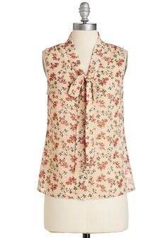 Flitting Pretty Top in Latte. With a gleeful grace, you float through your day feeling fab in this tan floral top! #tan #modcloth
