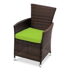 Lime Replacement Seat Cushion for Garden Rattan Chair Outdoor Patio Furniture, Pack of 2