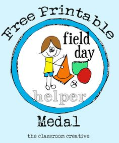 **FREE field day helper medal. Ideal for the kid that wants to help!