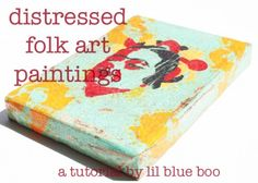 I can be a painter! Too fun! I love all the steps! I am so following this tutorial with my own paintings!