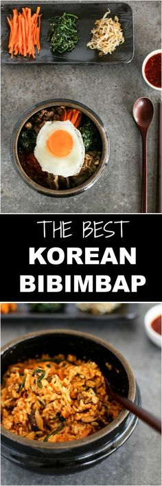 The Best Bibimbap (Korean Mixed Rice) Recipe | MyKoreanKitchen.com (try with TVP mince)