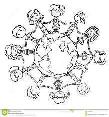 Coloring page children of the world Sunday School Pinterest