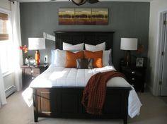 Master Bedroom On Pinterest Burnt Orange Gray And Orange