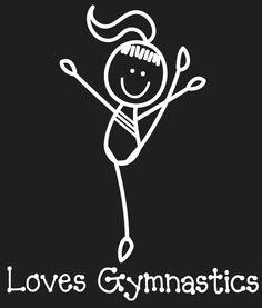 Gymnast cartoon