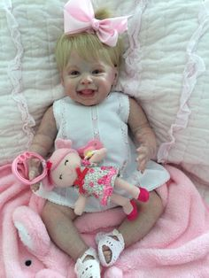Miranda from the mold of Harper by A. Reborn Toddler Dolls, Reborn Dolls, Reborn Babies, Life Like Baby Dolls, Life Like Babies, Silicone Dolls, Realistic Dolls, Baby Princess, Cute
