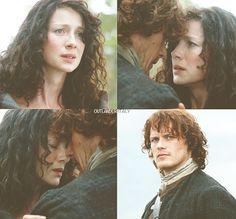 "Jamie: ""Goodbye, Sassenach."" Claire: ""Jamie....Goodbye."" | Outlander S1bE11 'The Devil's Mark' on Starz | Costume Designer TERRY DRESBACH www.terrydresbach.com"