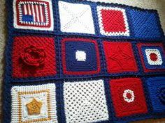 Kathie Stamps crocheted comfort blanket 05.28.13