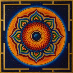 Mandala Painting - Namaste by Erik Grind Mandala Design, Mandala Art, Mandala Painting, Fractal Art, Fractals, Psy Art, Jewish Art, Visionary Art, Sacred Art