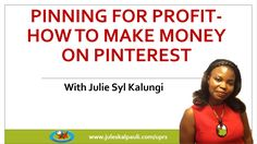 """""""How to Make Money with Pinterest"""" - Pinterest training Promo Price 45% OFF only $97 http://ift.tt/1XJ0EjG  Start creating a solid income by marketing on Pinterest within 90 days. Register for the most comprehensive Training on Pinterest Marketing Since The 2016 Algorithm change http://ift.tt/29gaauF   https://youtu.be/jm8YztouRM0  In this free Pinterest webinar you will learn:  - What you need to know to leverage and Dominate Pinterest traffic.  - Critical steps to ensure you get massive…"""
