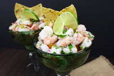Ceviche is so easy, fresh, and the perfect light summer treat! It's packed full of tangy citrus flavor with bits of crunch from onion and peppers.