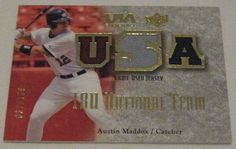 AUSTIN MADDUX - 2008 Upper Deck USA Baseball Game Used Jersey Card - # 037/179