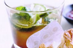 This refreshing drink, with lime, mint and sugar, sets the mood for the meal ahead - with a little rum to spice things up.