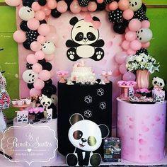Panda Themed Party, Panda Birthday Party, Panda Party, 10th Birthday Parties, Baby Girl Birthday, Birthday Party Decorations, Party Themes, Panda Baby Showers, Baby Boy Shower