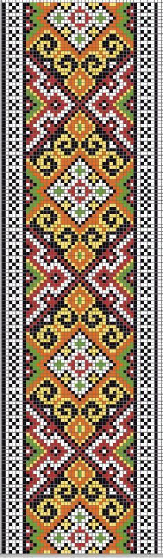 Knitting loom rug ideas ideas for 2019 Bead Loom Bracelets, Beaded Bracelet Patterns, Bead Loom Patterns, Peyote Patterns, Beading Patterns, Embroidery Bracelets, Cross Stitch Borders, Cross Stitch Designs, Cross Stitching
