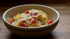 Pasta with Tomatoes, Garlic and Anchovies