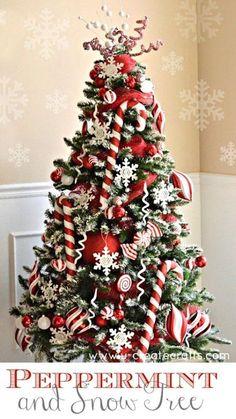 Tree Decor Inspiration - Candy Cane Christmas