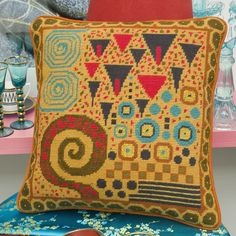 Klimt: Toffee - New needlepoint canvas from Ehrman Tapestry by deisnger Candace Bahouth
