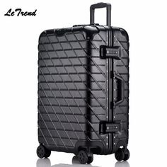 New 20 24 28inch Originality Crash Travel Lugggae Women Trolley Boarding Box Suitcases Rolling Luggage Man Travel Suitcase Trunk Luggage & Bags