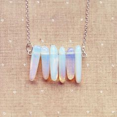 Milky Opal Necklace Moonstone Necklace Delicate by lowelowejewelry, $22.00