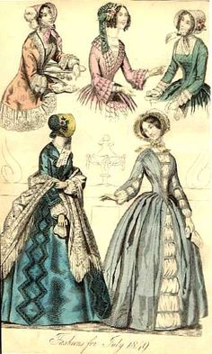 Victorian fashions for July 1849