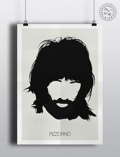 Serge Pizzorno Kasabian Minimalist Poster by Posteritty #MinimalistDesign #MinimalistPosters