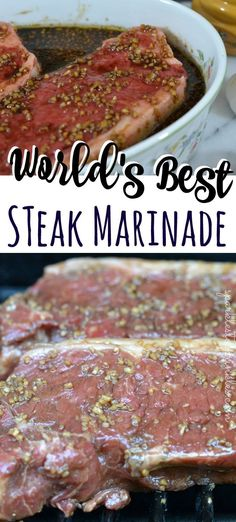 This truly is the Worlds Best Steak Marinade! - This truly is the Worlds Best Steak Marinade! This truly is the Worlds Best Steak Marinade! Marinade Porc, Marinade Für Steaks, Steak Marinade For Grilling, Marinade Sauce, Grilling Recipes, Beef Recipes, Cooking Recipes, Steak Marinade Balsamic, Vegetarian Grilling