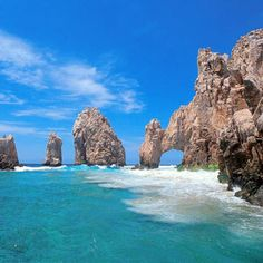 April 9th - Los Cabos, Baja California Sur, Mexico * At the tip of the 775-mile-long Baja Peninsula, where the Pacific Ocean meets the Sea of Cortez, the resort area of Los Cabos stretches more than 20 miles between the desert towns of Cabo San Lucas and San Jose del Cabo.  Vacationers come and relax on sandy beaches and enjoy the world class fishing and-if they choose-a vibrant nightlife.