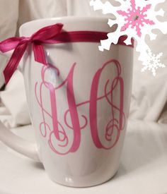 Monogram Coffee Mug by GiftQueenGifts on Etsy, $9.99