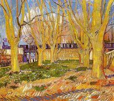 Vincent van Gogh (Dutch, Post-Impressionism, 1853-1890) Avenue of Plane Trees near Arles Station, 1888. Oil on canvas. Musée Rodin, Paris <3