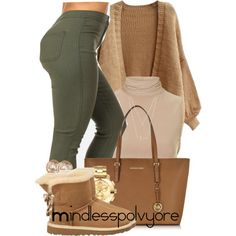 A fashion look from December 2015 featuring Rare London tops, UGG Australia ankle booties and Michael Kors tote bags. Browse and shop related looks. Cute Swag Outfits, Dope Outfits, Stylish Outfits, Stylish Eve, Casual Winter Outfits, Fall Outfits, Summer Outfits, Outfit Winter, Casual Fall