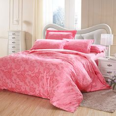 Youkasi Jacquard double-faced 4Pcs wedding Bedding Sets including quilt cover,flat sheet and pillowcases for  home textiles $86.00 - 88.00