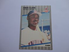 Dave Clark Outfield Rookie Cleveland Indians